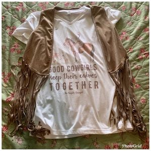 Coyote Cowgirl Tee